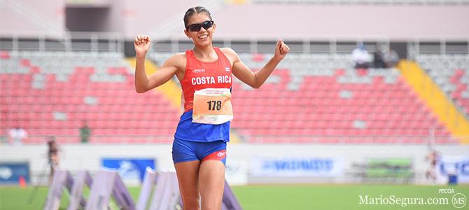 Noelia Vargas impone récord nacional en 10 mil metros marcha