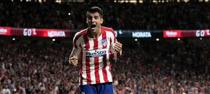 Un doblete de Morata mantiene la racha del Atlético, que roza la Champions