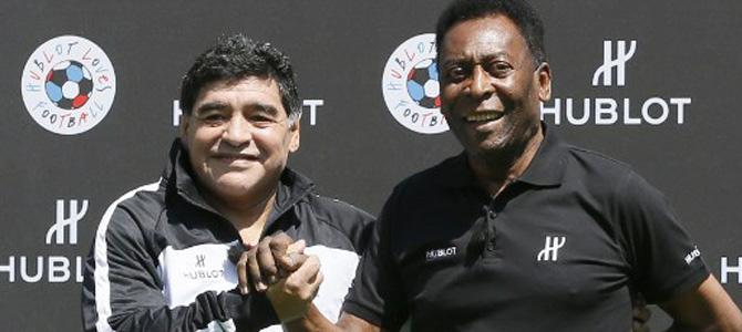 """El día en que Pelé """"fichó"""" a Maradona para el Santos de Brasil"""