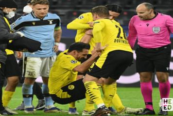 Borussia Dortmund accede a octavos de final de 'Champions' tras empatar 1-1 con Lazio
