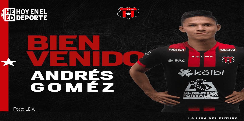 Andrés Gómez y su delicada situación en Alajuelense