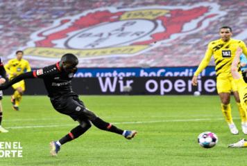 Leverkusen gana 2-1 al Dortmund en duelo apasionante de la Bundesliga