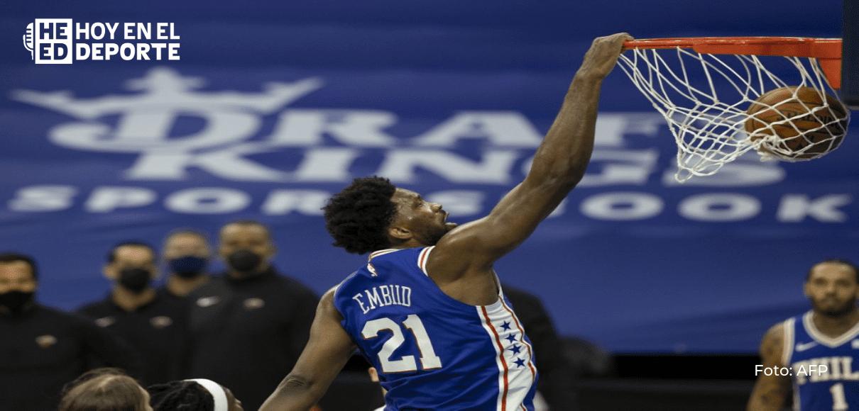 Filadelfia 76ers aplastan al Heat en la NBA