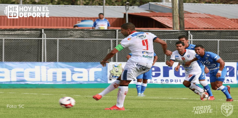 Jicaral iguala 1-1 ante San Carlos en un partido de poca intensidad