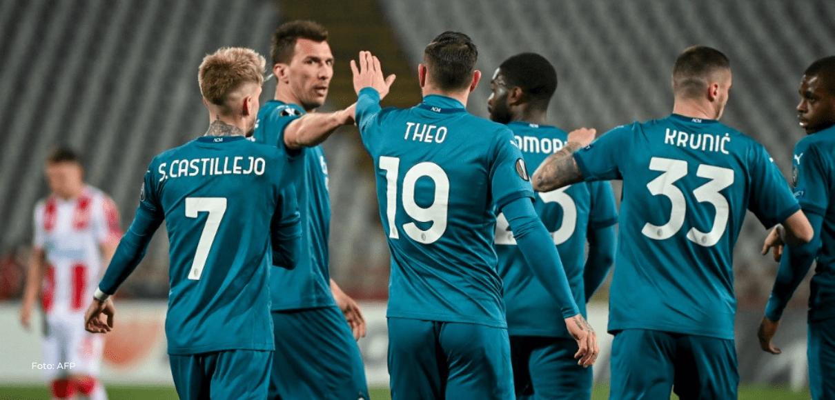 El Milan deja escapar vivo al Estrella Roja con empate 2-2 en Belgrado