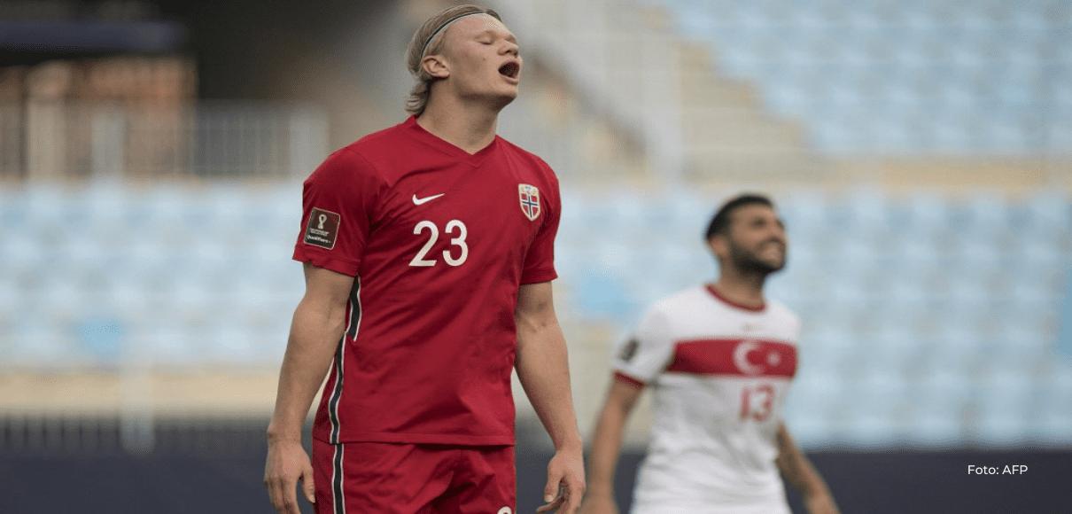 Noruega y Haaland se complican su pase a Catar tras perder frente a Turquía