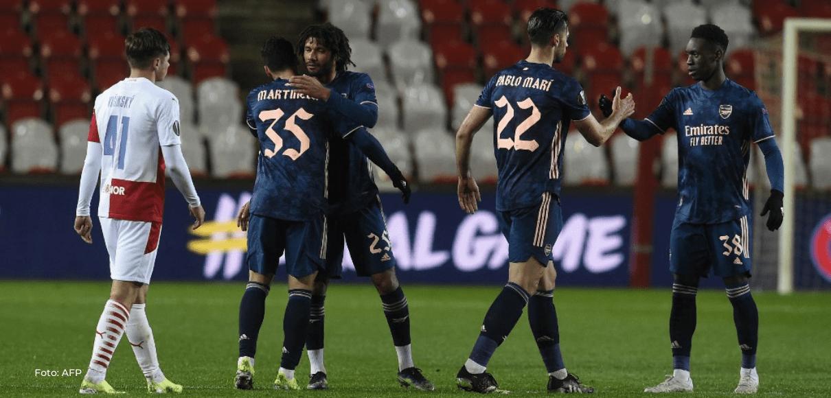 El Arsenal fulmina al Slavia de Praga con una goleada