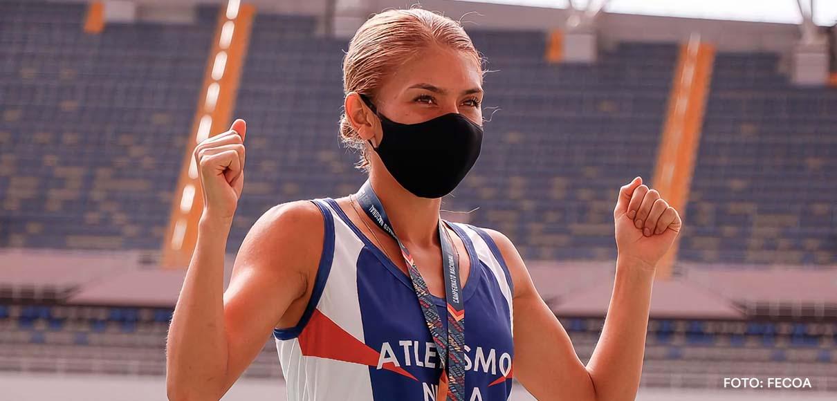 Andrea y Noelia Vargas calentaron piernas en la Villa Olímpica