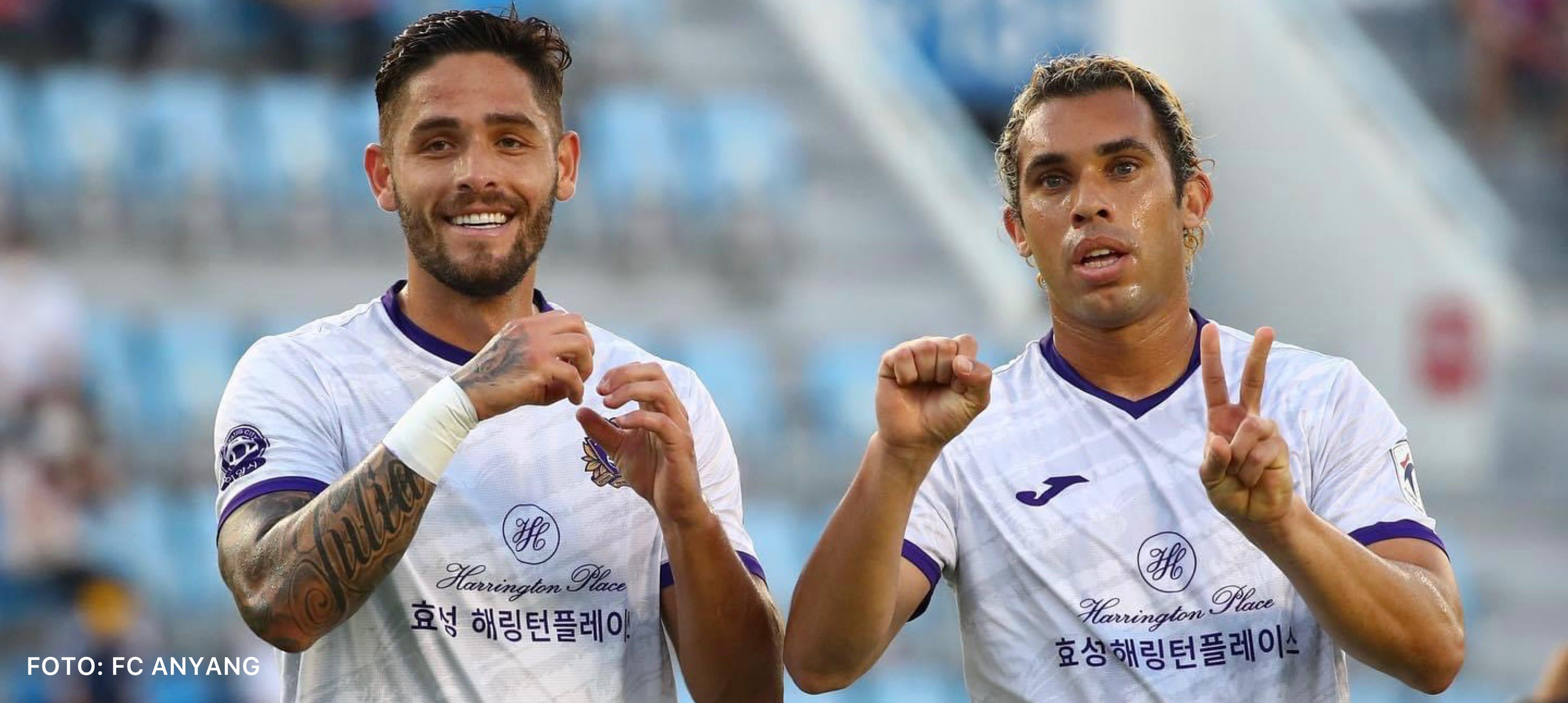 Moya anotó doblete en victoria del Anyang 4-5 sobre Busan