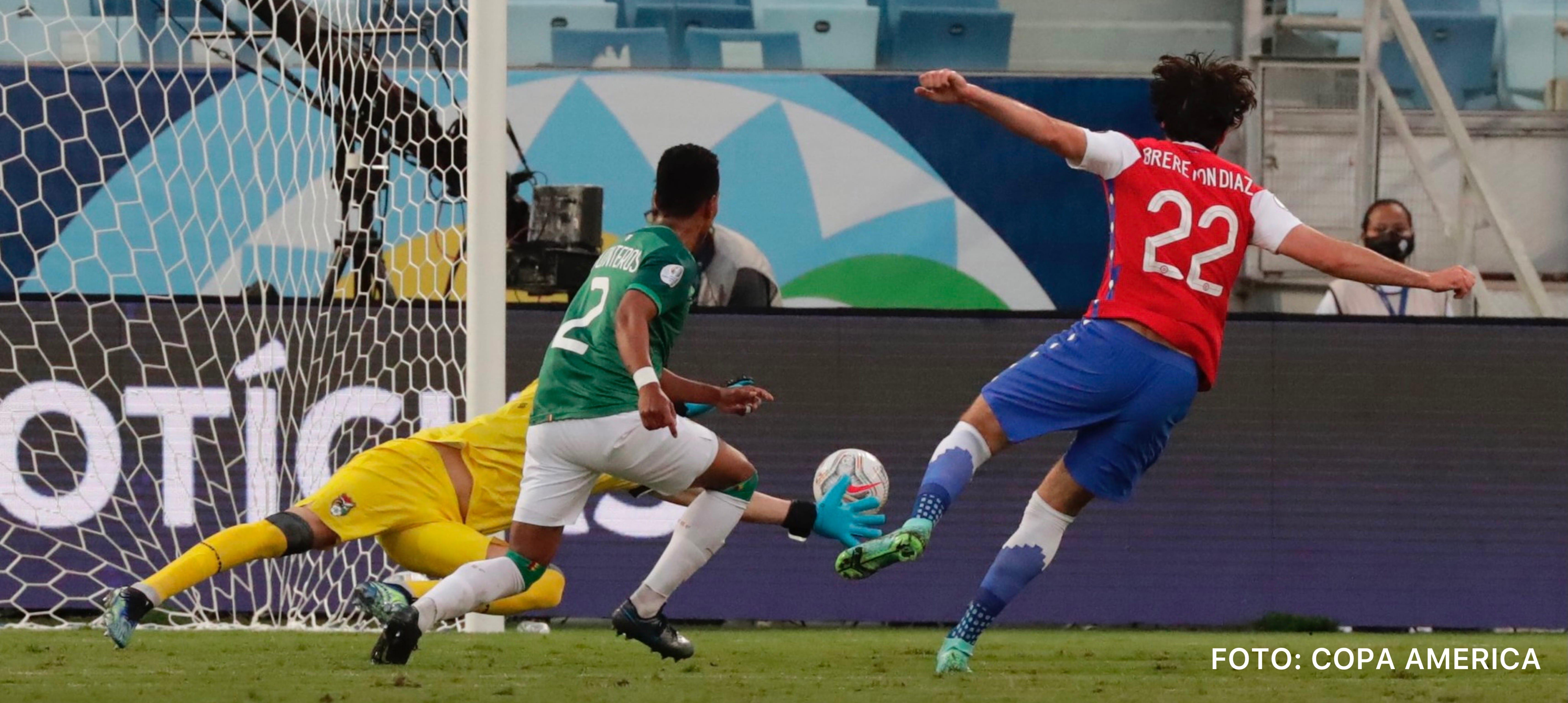Chile derrotó 1-0 a Bolivia con gol de Brereton
