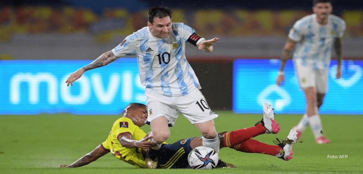 Argentina cede un agónico empate 2-2 ante Colombia en la eliminatoria a Catar-2022