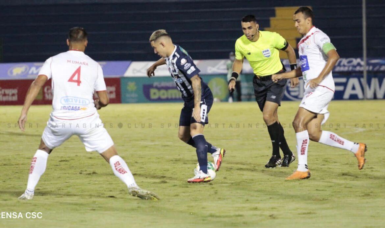 Santos venció a Cartaginés y sacó tres puntos de oro del Fello Meza